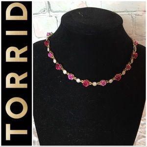 Torrid Gold Rose Choker